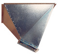 Galvanized steel 25-inch (635-mm) diameter transition boot for BROCK® Feed Bins.