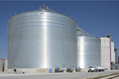 Two Brock 132-ft (40.2-m) diameter M-Series™ Bins in Illinois.