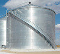 The BROCK SHUR-STEP® Stairs is a popular option with Brock's farm and commercial grain storage bins.
