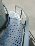 The BROCK SHUR-STEP® Bin Stairway features wide, sturdy steps.