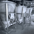 Brock's smaller diameter polyethylene surge tank helps to conserve manufacturing space.