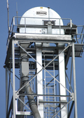 Brock's Bucket Elevators are designed for commercial and farm-duty applications. Galvanized steel construction with painted weld seams.
