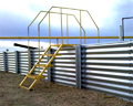 Containment walls are available a choice of 10-, 12-, 14- and 15-gauge thicknesses.