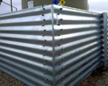 Galvanized steel corners are die-formed to match the corrugations for a snug fit. Seams with alternating bolt pattern assure a positive seal on square and rectangular configurations.