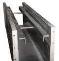 Chain return rails are capped with 1/4-inch (6.4-mm)  AR steel for longer life.