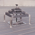 Brock's WELL-GARD® Discharge Guard for use in commercial grain bins.