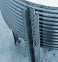 Bin legs are formed from all-galvanized steel for superior fit, durability, and strength.