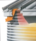 BROCK® Eave-Vent System provides more total bin ventilation and eliminates roof cuts.
