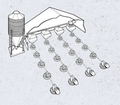 Typical FLEX-AUGER® System for Poultry