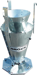 Brock Grain Spreader with optional centering cone.