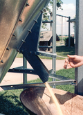 Brock's optional Hopper Valve Kit offers an easy way to discharge small amounts of feed from a feed bin.