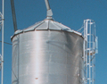 A grain bin-style roof with a higher load