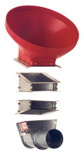 Brock's 7.5° and 15° galvanized steel transitions for modifying the 30° boot transition angle.