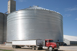 Brock's M-Series™ 156-foot (47.5-m) diameter grain storage bin with a 1.34 million bushel capacity was recently constructed at Frontier Cooperative's David City, Nebraska, location. The bin will be featured as a part of the open house celebration August 26 at the Frontier Cooperative location.