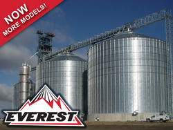 Brock offers a variety of stiffened flat-bottom and hopper-bottom storage bins including the company's line of EVEREST® E-Series Grain Bins and M-SERIES™ high-capacity storage bins.