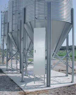 Brock Feed Bin Ladder Security Door helps restrict unauthorized access to the feed bin's ladder.