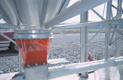 Brock's molded polycarbonate boot transitions offer high strength and high impact resistance. Shown here is the red translucent twin boot transition.