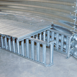 Brock's TRI-CORR® Bin Aeration Flooring System with PARTHENON® Supports