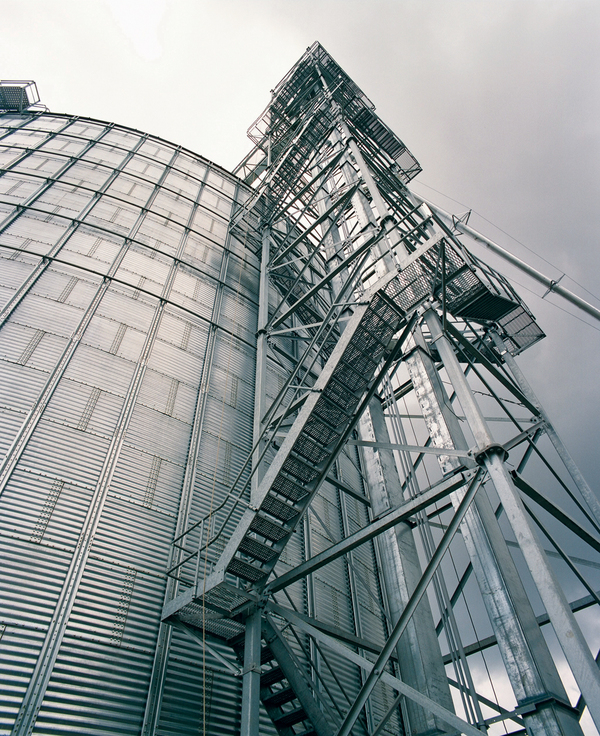 Staircase Tower Support : Brock catwalks and towers systems for grain