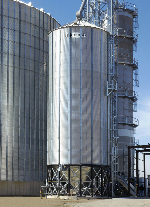 Stiffened Hopper Bin Features Brock 174 Systems For Grain