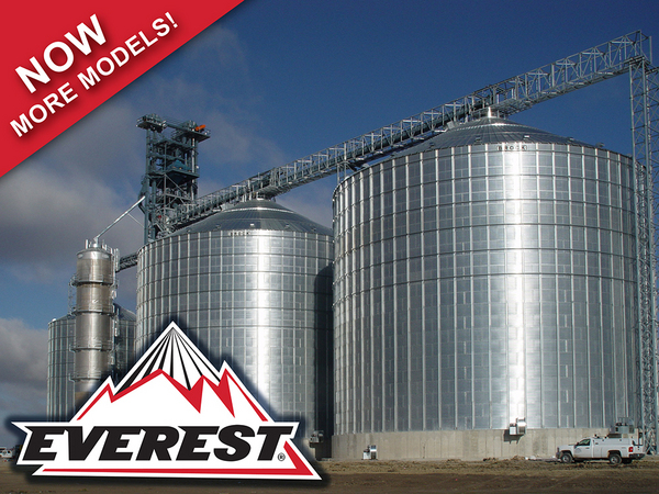 Brock Offers A Variety Of Stiffened Flat Bottom And Hopper Storage Bins Including The Company S Line Everest E Series Grain Bin