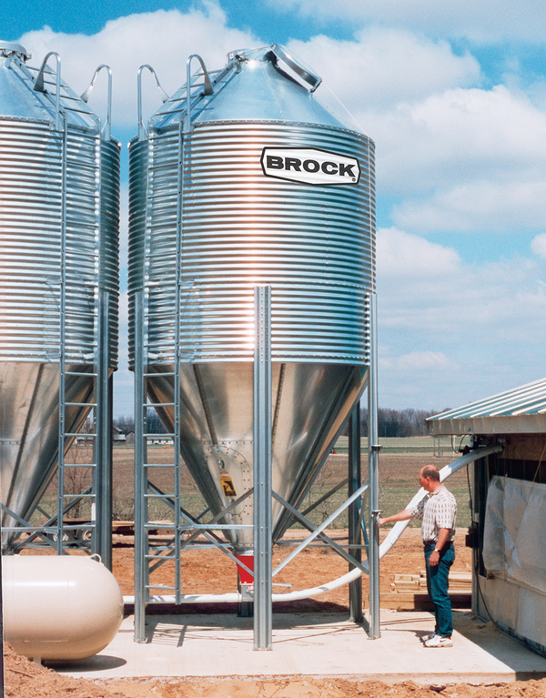 BROCK® Feed Storage Bins & BROCK® Feed Bin Features - Brock® Systems for Grain Storage ...